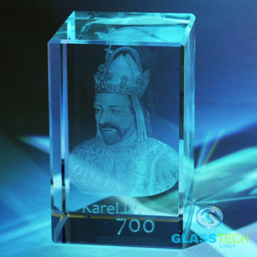 Picture of Karel IV. in cuboid