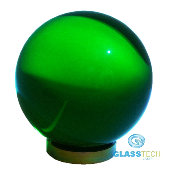 Green glass ball 30 mm