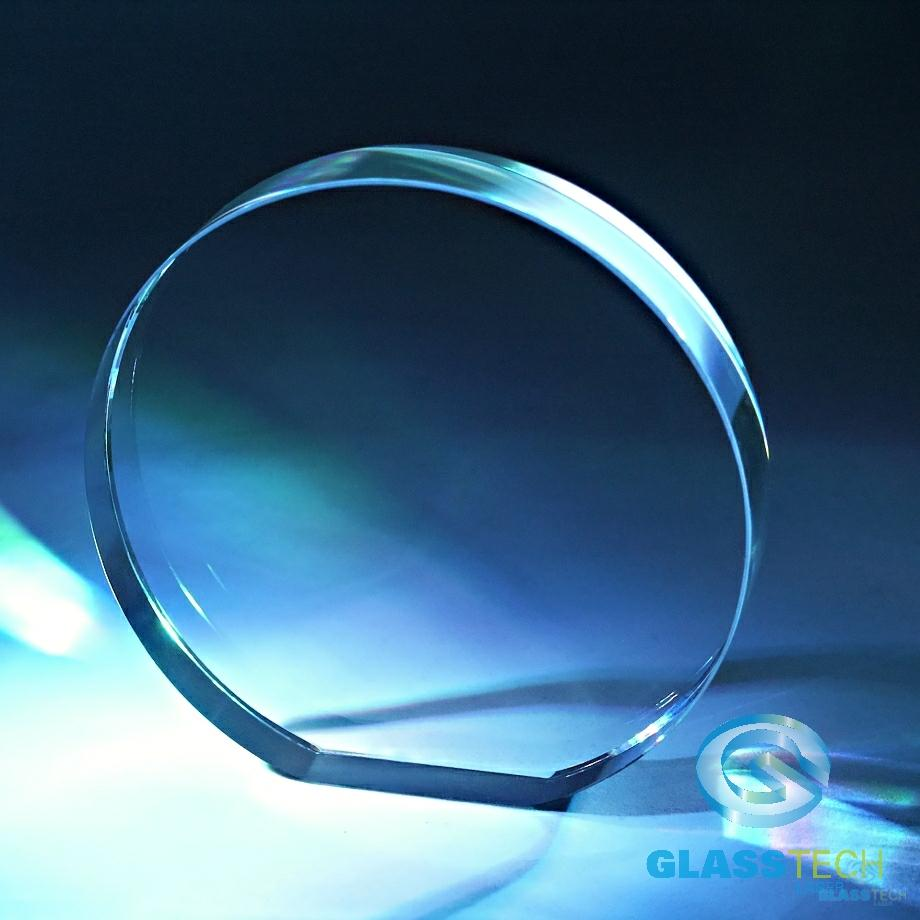 Glass plaque round dia. 200 x 50 mm