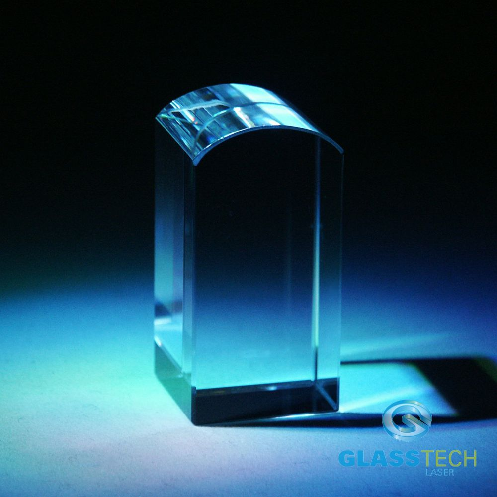 Glass block 25 x 25 x 50 mm rounded