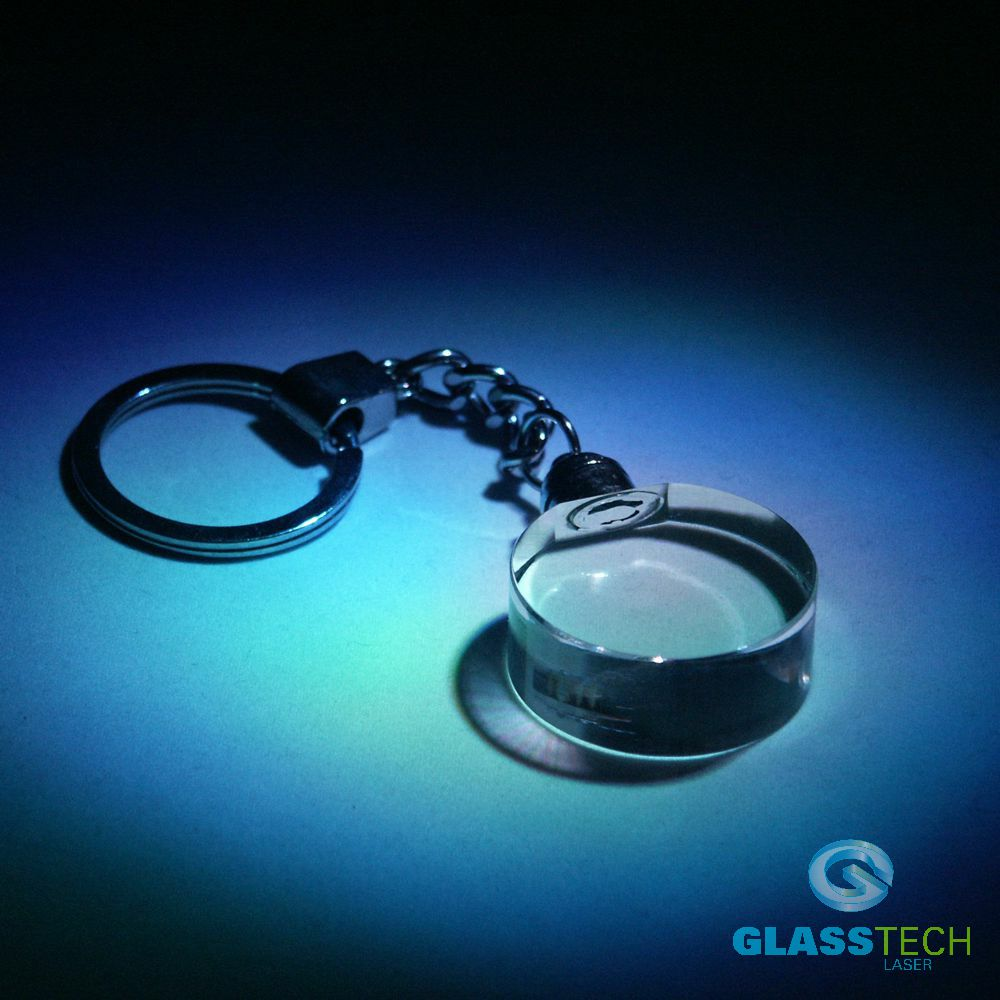 LED key ring - glass ellipse