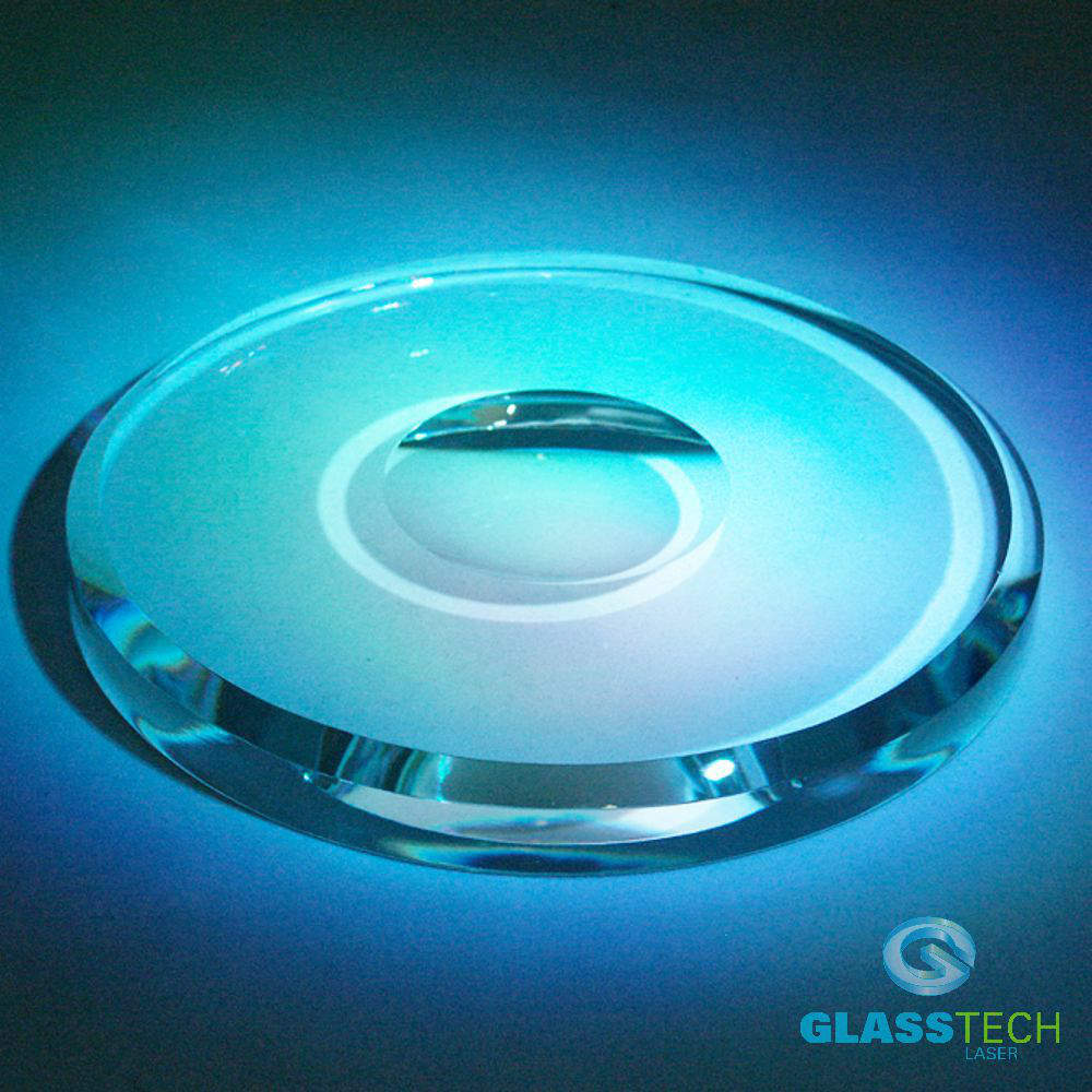 Round glass stand for ball 60 mm