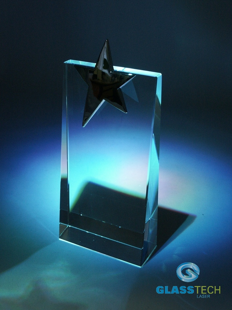Glass trophy - star  - M