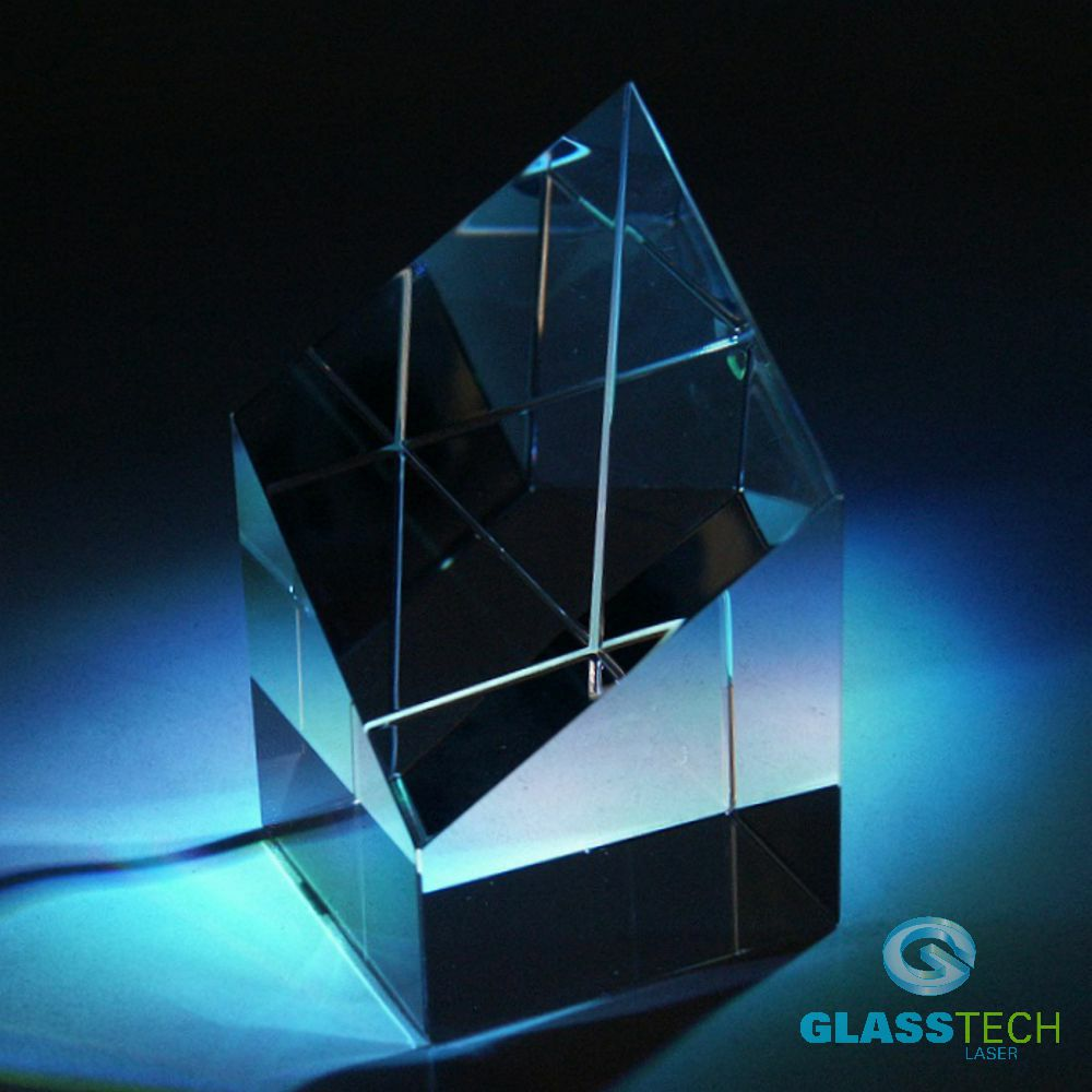 glass trophy-4 edges - S