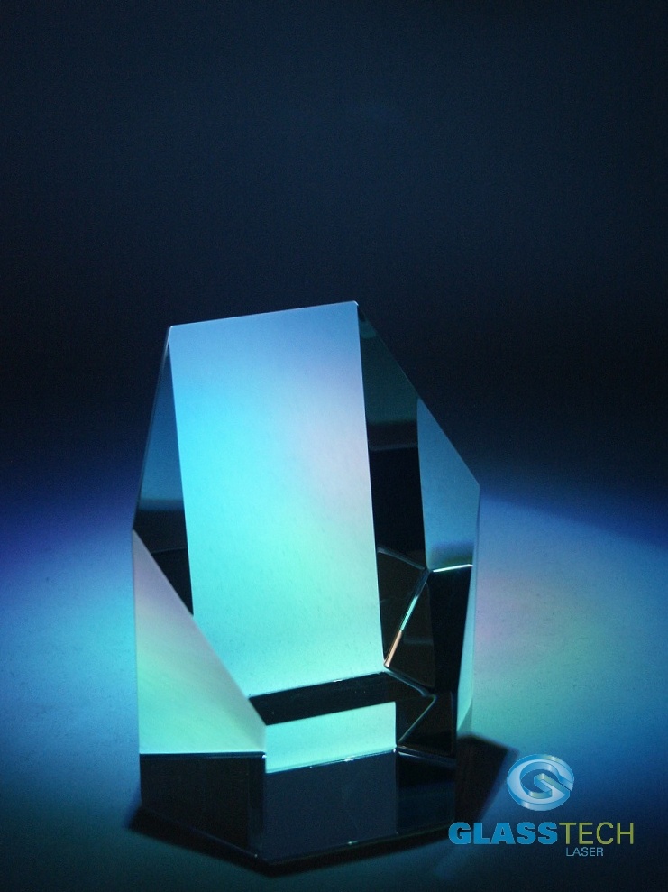 glass trophy-6 edges - S