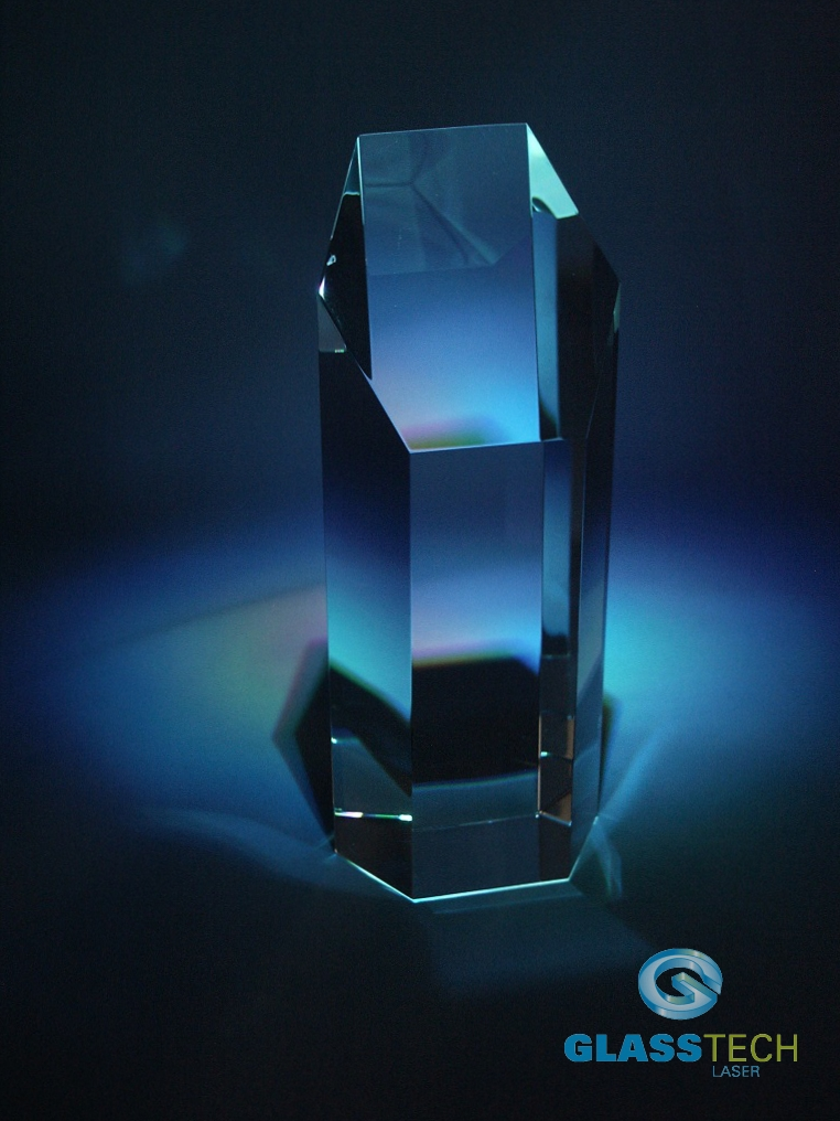 glass trophy-6 edges - L