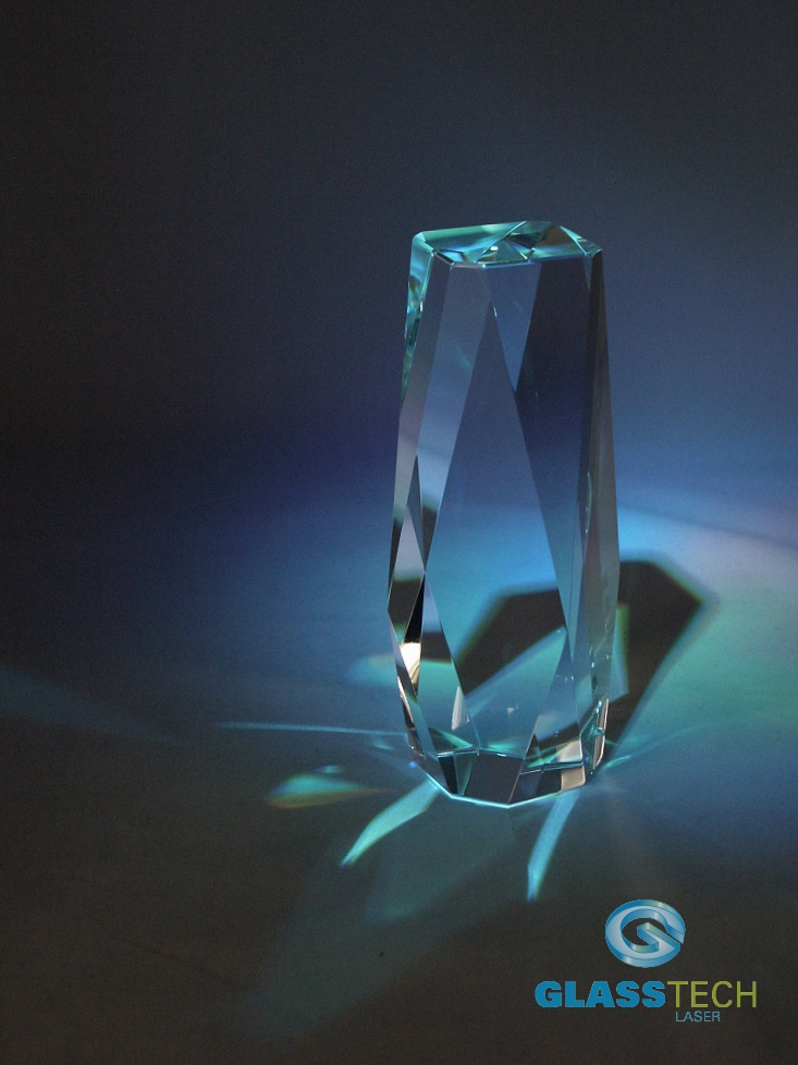 glass trophy-tower - L