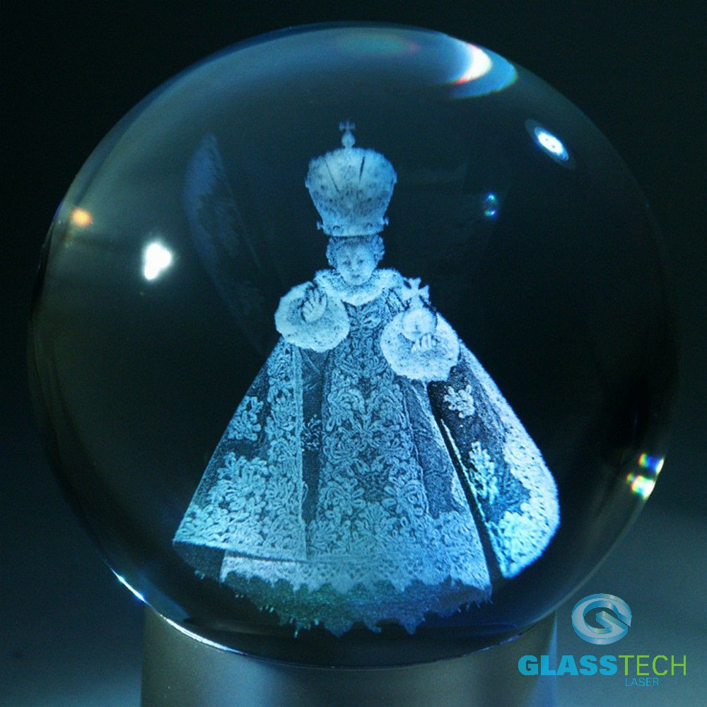 3D The Infant Jesus of Prague -glass ball 100 mm