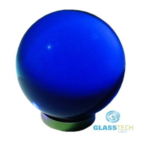 Blue glass ball 60 mm