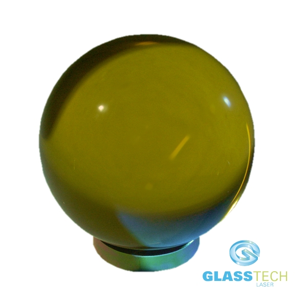 Yellow glass ball 80 mm