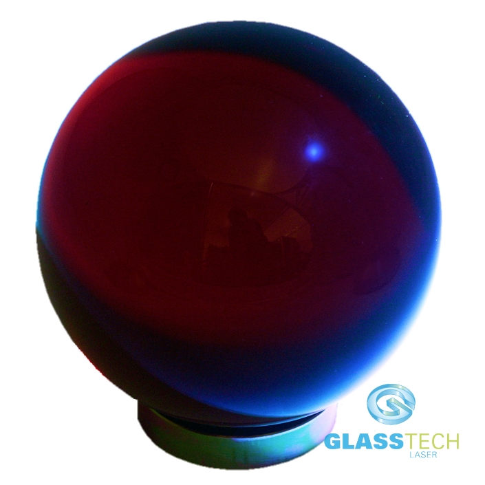 red glass ball 80 mm