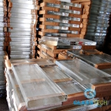 RAW BLOCKS-OPTICAL GLASS 40X340X525, 21 Kgs