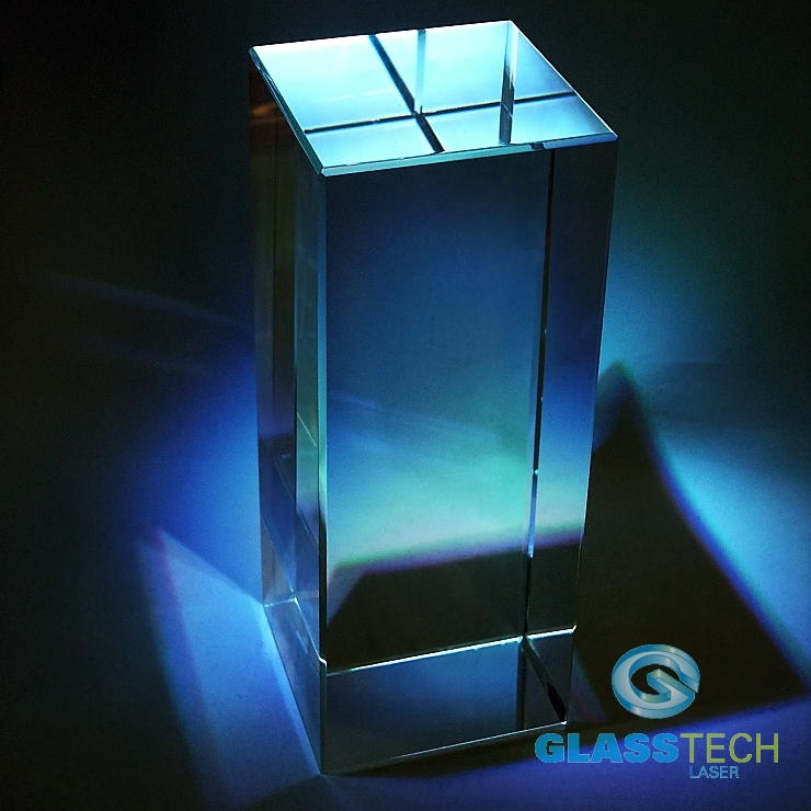 Glass block 100 x 100 x 250 mm