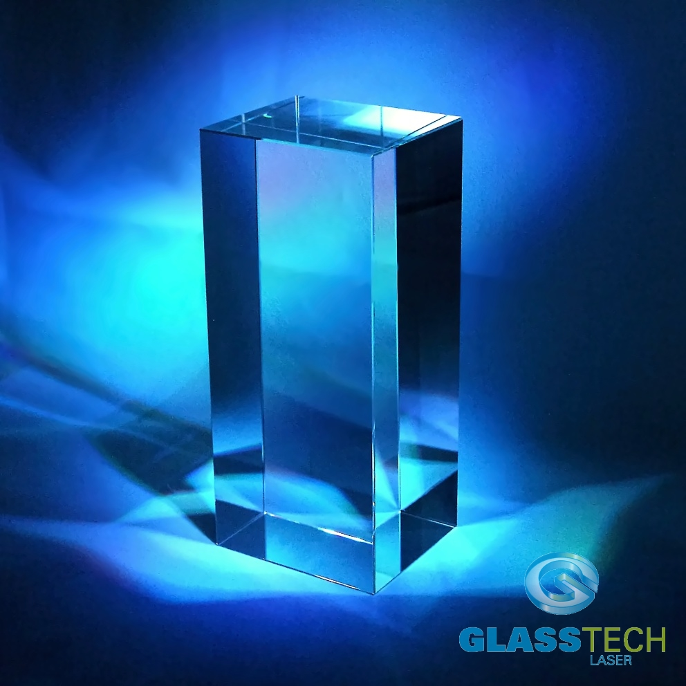 Glass block 110 x 80 x 250 mm