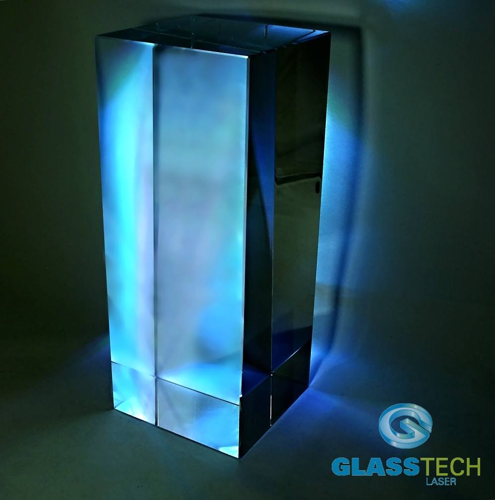 Glass block 120 x 120 x 300 mm