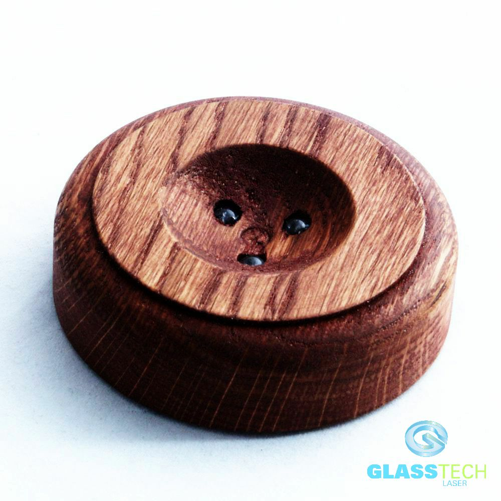 LED stand wood black 80mm, for balls 80-150 mm