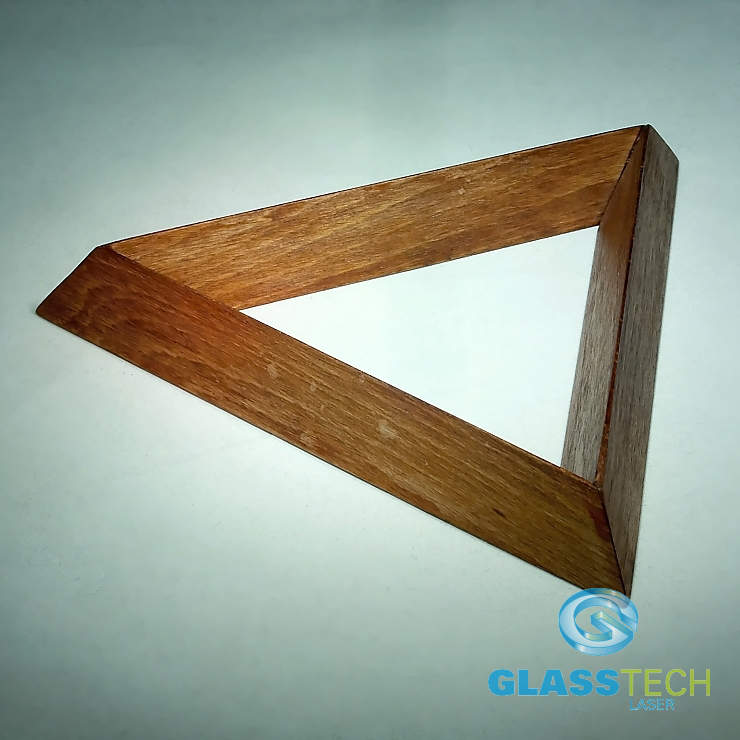 Wooden stand-triangle braun 100 mm