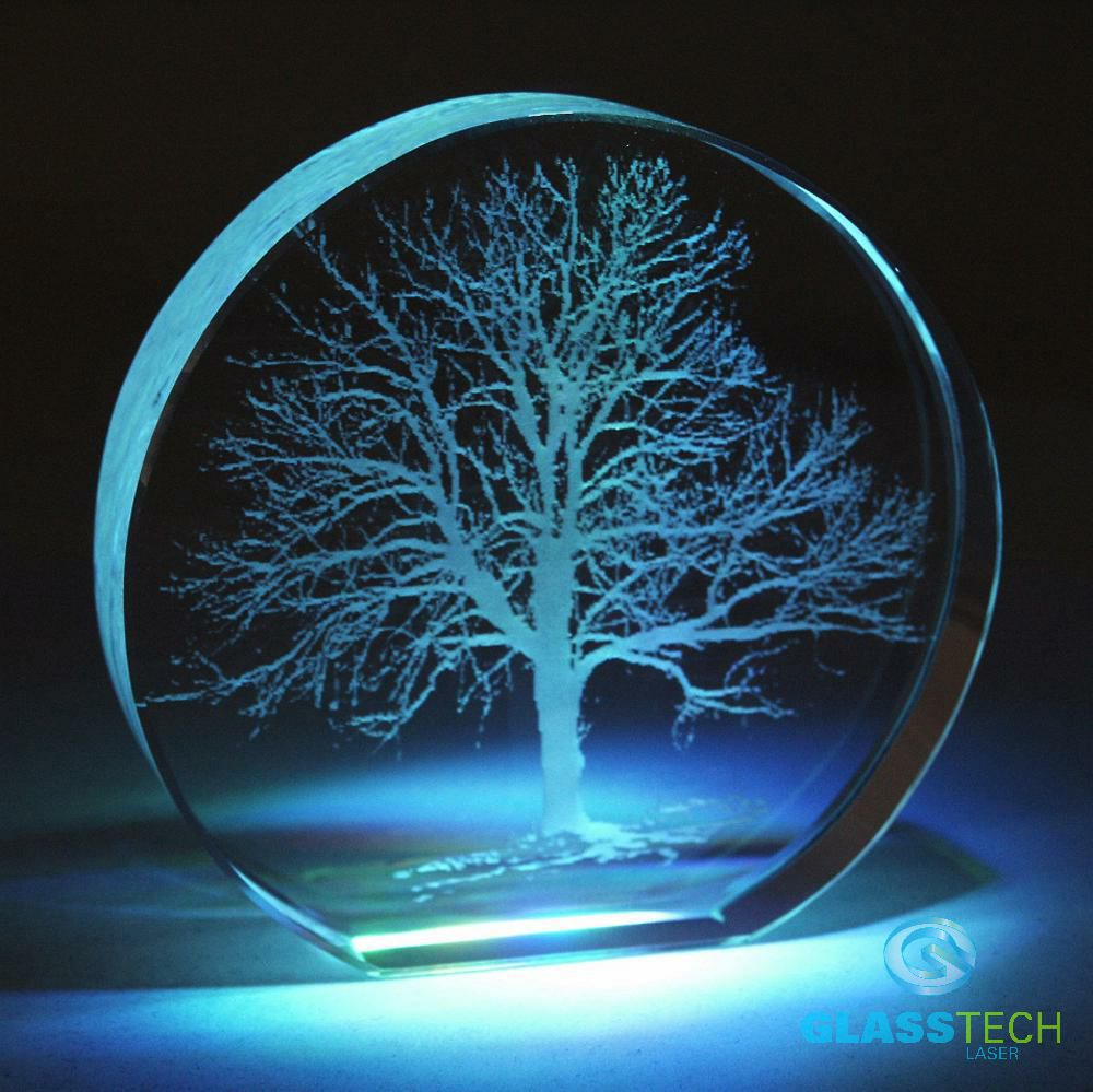 Tree Of Life Laser Engraved In Paperweight Glass Laser Com