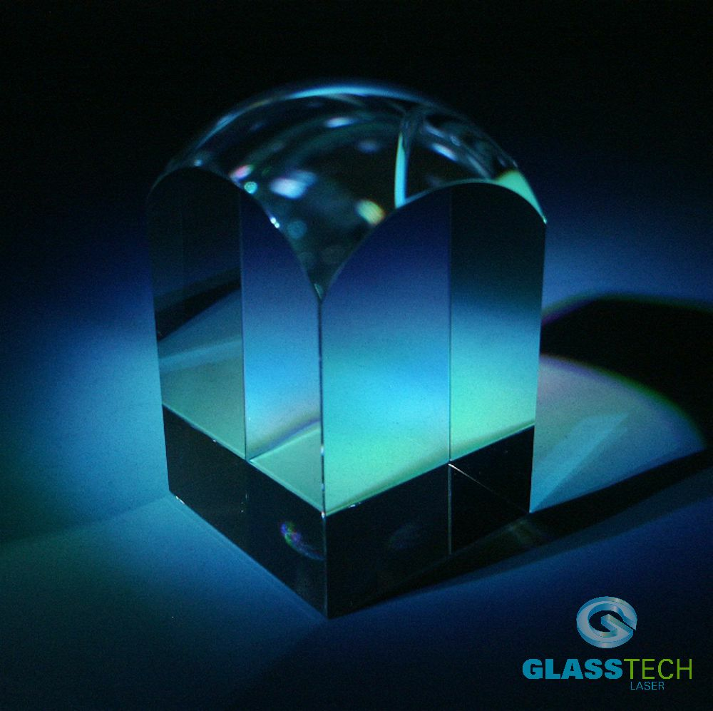 Glass block rounded 60 x 60 x 100 mm