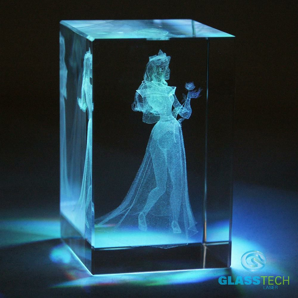 3D bride-glass block 50 x 50 x 80 mm
