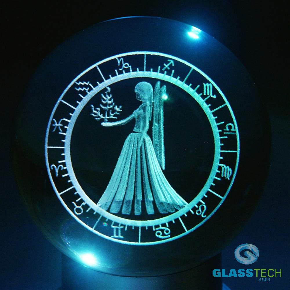 3D sign VIRGO - glass ball 100 mm
