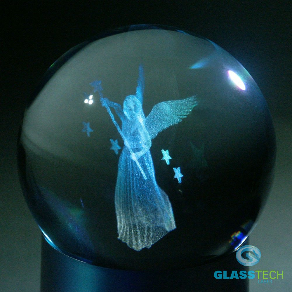 3D Angel woman-glass ball 80 mm