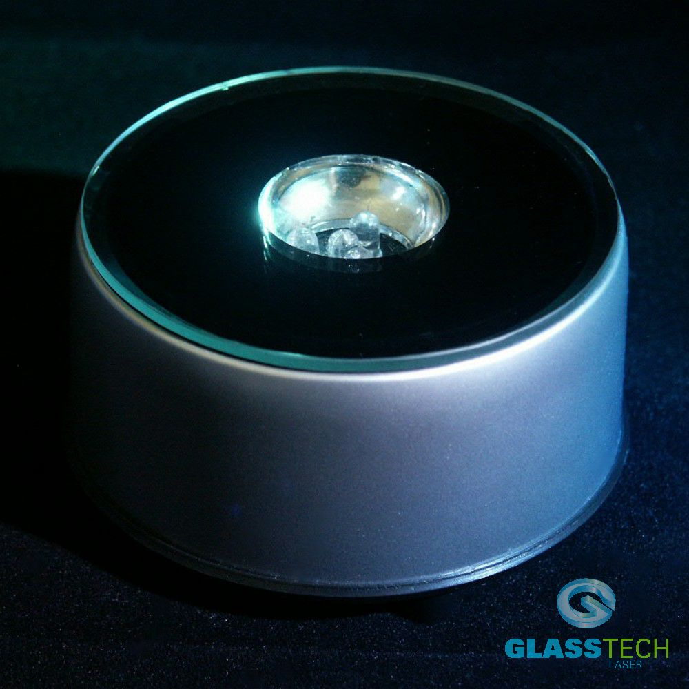 LED stand rotating for glass spheres