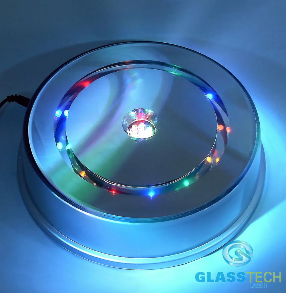 LED stand rotating 200 mm, for glass blocks