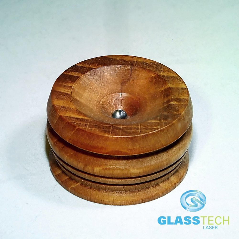 LED stand wood 43 mm, colour changing, for balls 40-150 mm
