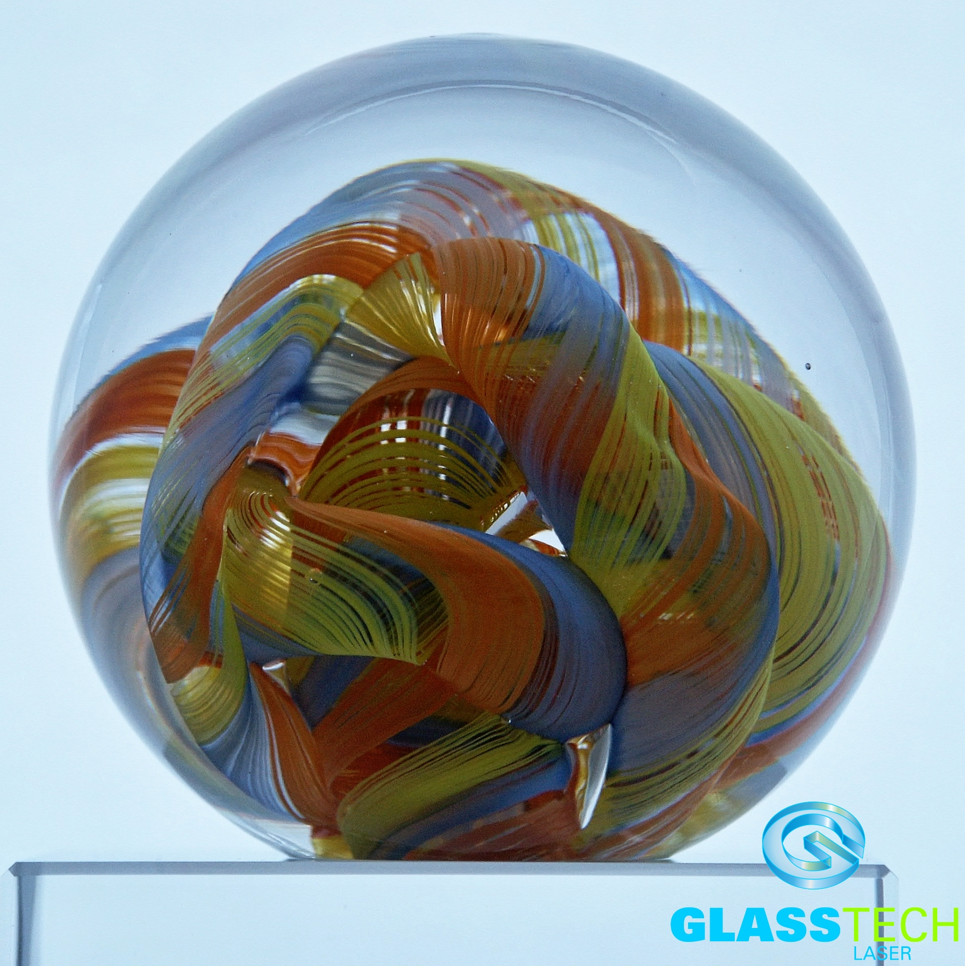 Paperweight Orange glow 80 mm